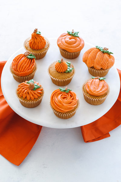 Pumpkin Cupcakes 8 Ways