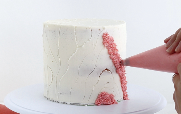 Shag Cake - how to make a fuzzy textured cake inspired by 70's shag carpet | by Whitney DePaoli for TheCakeBlog.com