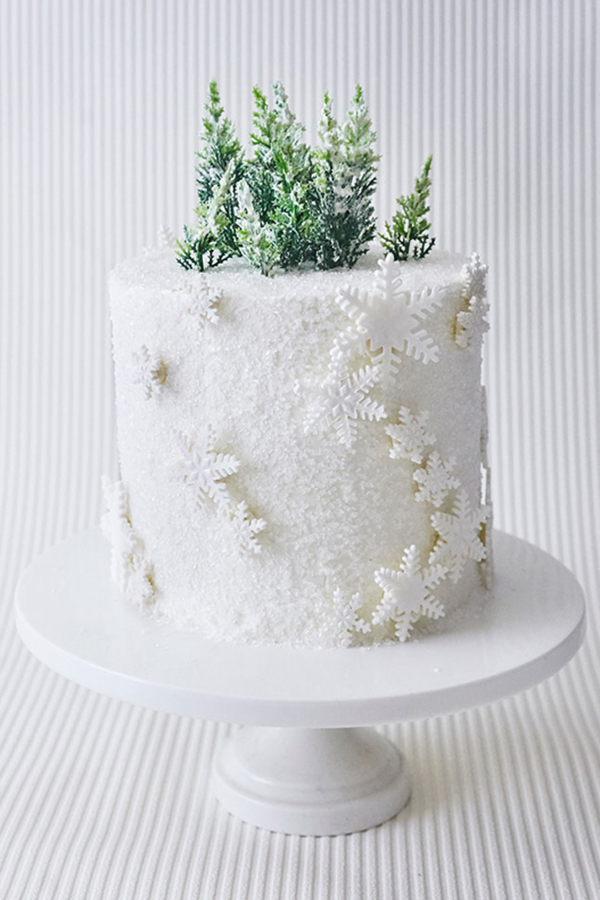Winter Wonderland Snowflake Cake | by Cakegirls for TheCakeBlog.com