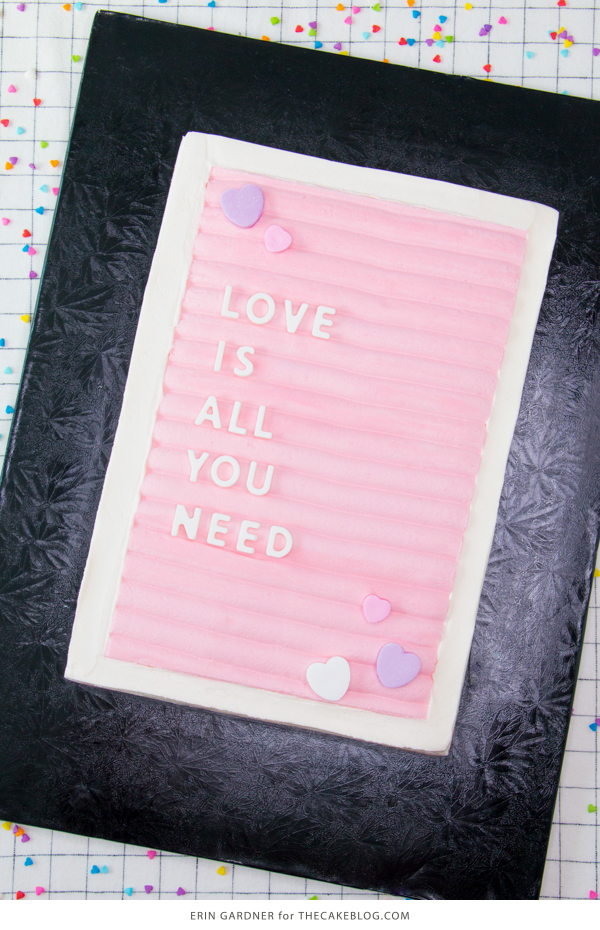 Message Board Sheet Cake | by Erin Gardner for TheCakeBlog.com