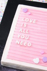 Message Board Sheet Cake | by Erin Gardner for TheCakeBlog.com